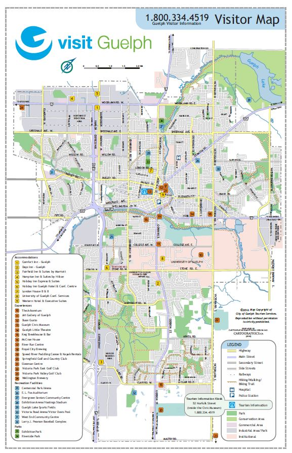 Map Of Guelph Transportation & Maps
